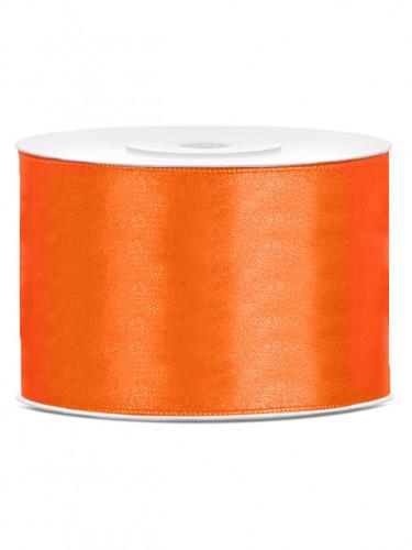 Nastro satinato arancione 5 cm x 25 metri