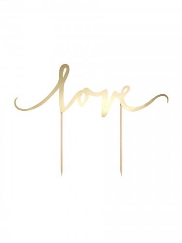 Decorazione per torta Love oro