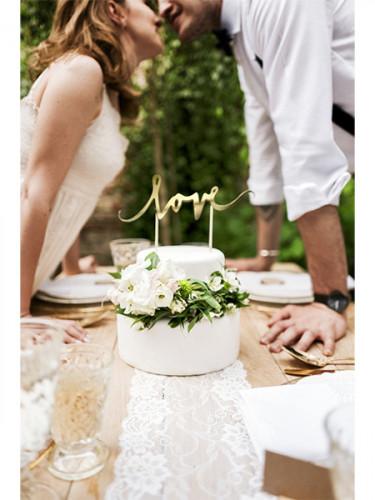 Decorazione per torta Love oro-1