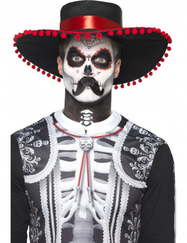Kit trucco scheletro messicano Dia de los Muertos adulto