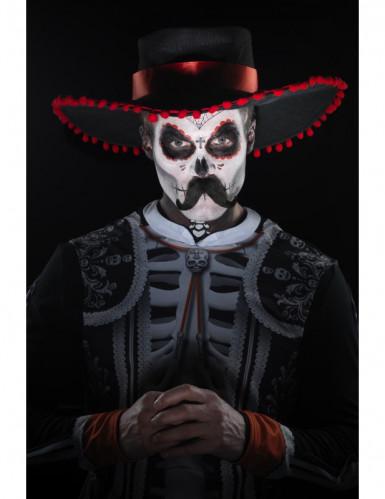 Kit trucco scheletro messicano Dia de los Muertos adulto-3