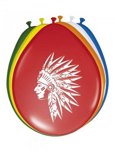 8 palloncini in lattice indiani multicolor