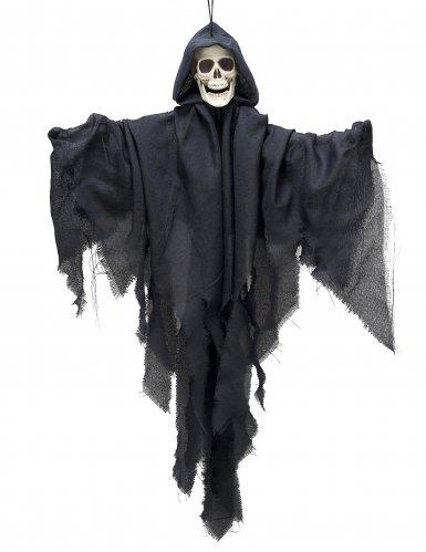 Decorazione da appendere scheletro con velo nero