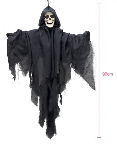 Decorazione da appendere scheletro con velo nero-1
