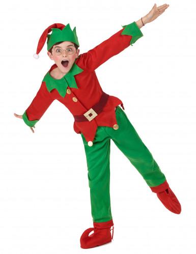 Costume da elfo natalizio per bambino-4