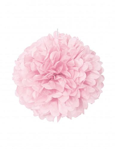 Pon pon rosa di carta 40 cm
