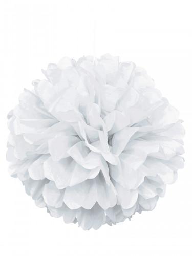Pon pon di carta bianco 40 cm
