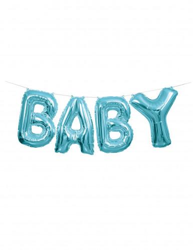 Ghirlanda di palloncini alluminio Baby blu