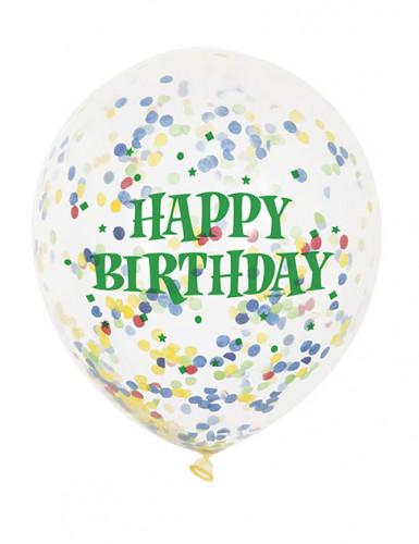 6 palloncini in lattice trasparenti Happy Birthday-1