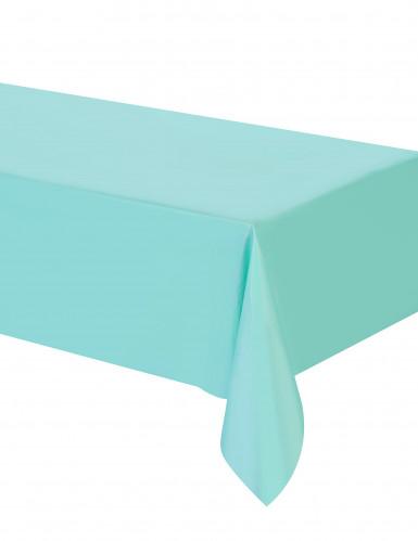 Tovaglia di plastica rettangolare color menta-1