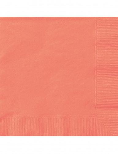 20 tovaglioli di carta color corallo