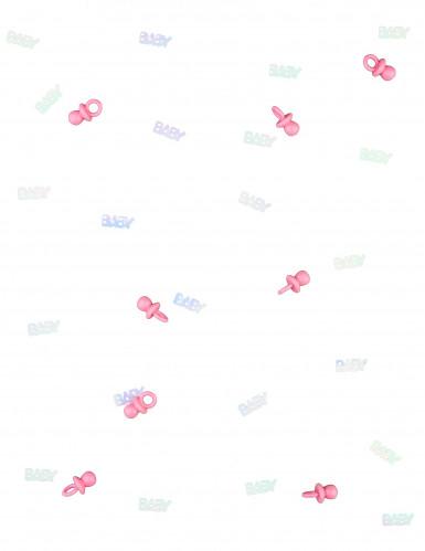 Coriandoli baby con ciuccetti rosa-1