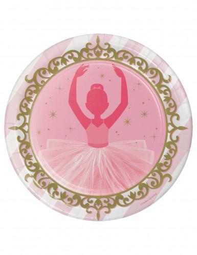 8 piatti in cartone tema ballerina 23 cm