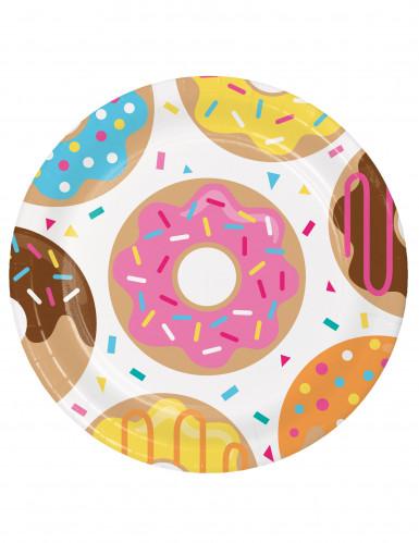 8 piatti di cartone Donuts 23 cm