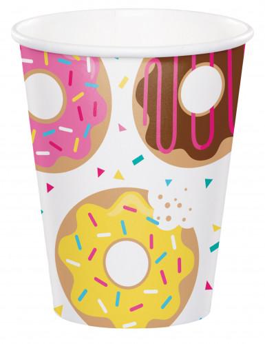 8 bicchieri in cartone donuts