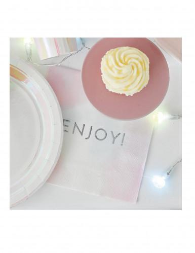 16 tovaglioli di carta enjoy pastello-2