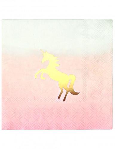 16 tovagliolini unicorno dorato