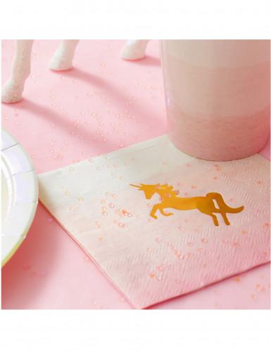 16 tovagliolini unicorno dorato-1