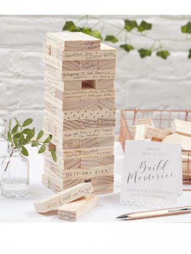 Libro per le firme in legno gioco dei mattoncini-1