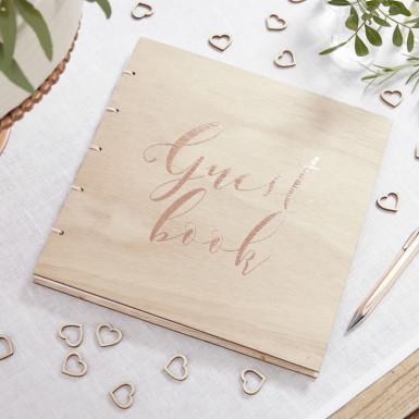 Libro delle firme in legno Guest book-1