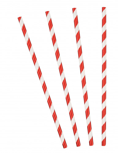 25 cannucce a righe rosse e bianche