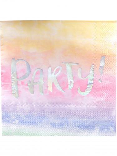 20 tovaglioli di carta Party iridescenti