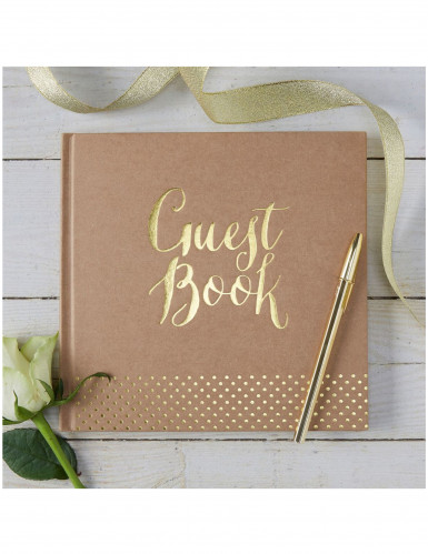 Libro delle firme kraft Guest book-1