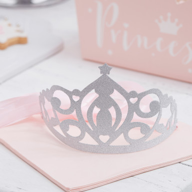 5 diademi da principessa argentati-1