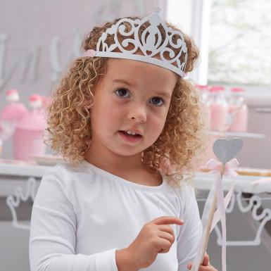 5 diademi da principessa argentati-2