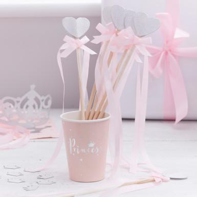 10 bastoncini con cuore principessa-1