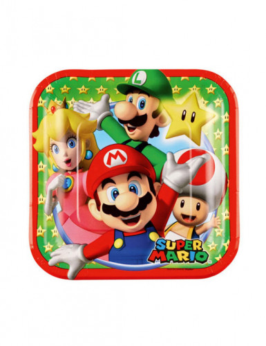 8 Piatti in cartone Super Mario™ da 18 cm