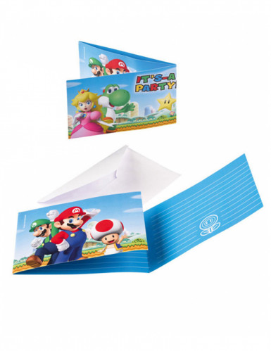 6 inviti con relative buste Super Mario™