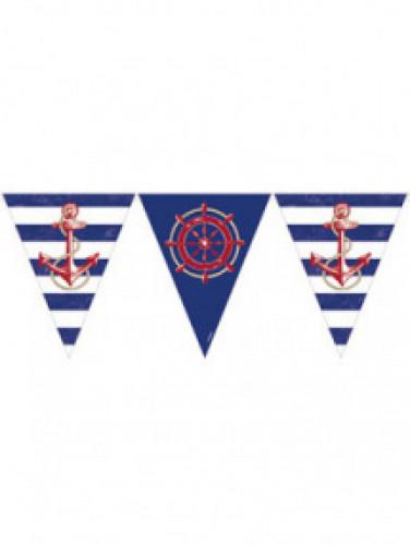 Ghirlanda con bandierine tema marino
