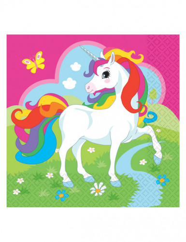 20 tovaglioli in carte unicorno multicolor