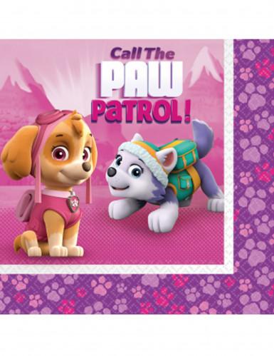 20 tovaglioli di carta rosa Paw Patrol™