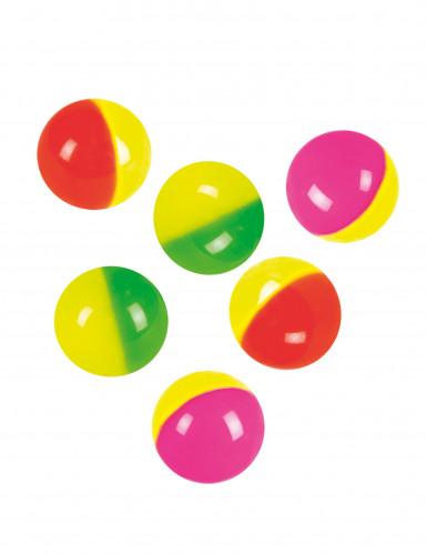 6 palline rimbalzanti colorate