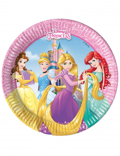 8 piattini in cartone Principesse Disney™ 20 cm