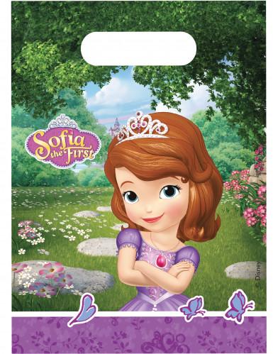 6 sacchetti in plastica Sofia la principessa e l'unicorno™