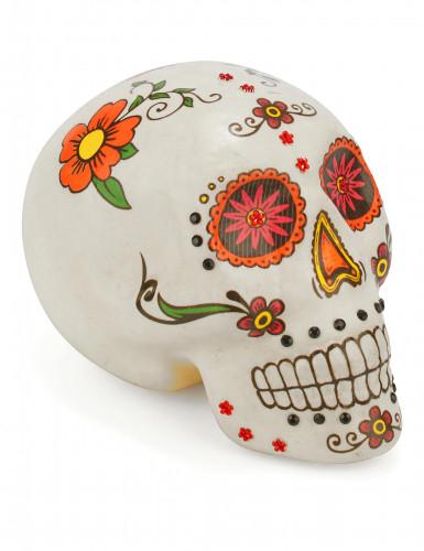 Decorazione teschio colorato Dia de los muertos