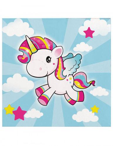 20 tovaglioli di carta piccolo unicorno