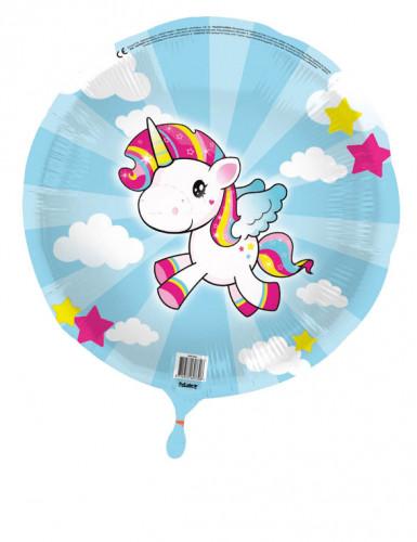 Palloncino di alluminio piccolo unicorno