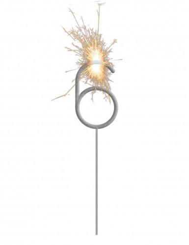 Stella filante luminosa con numero 6