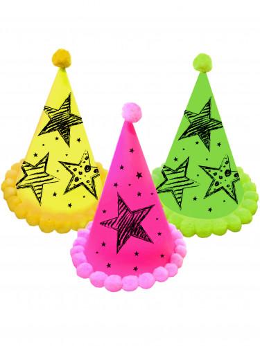 3 cappelli da festa Neon party