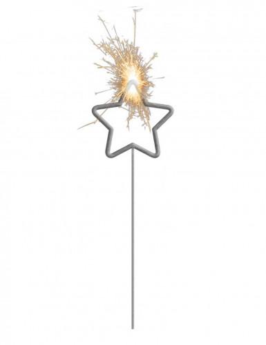 Stella filante luminosa con stella