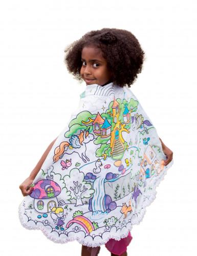 Mantello double face principesse da colorare per bambina