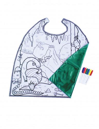 Mantello double face con draghi da colorare per bambino