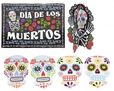 Kit 7 decorazioni con scheletro Dia de los muertos