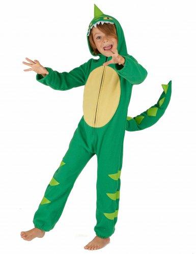 Costume da dinosauro verde bambino-1