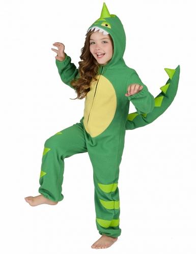Costume da dinosauro verde bambino-3