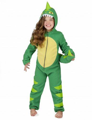 Costume da dinosauro verde bambino-5